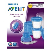 Avent Breastmilk Storage Containers with Lids 180ml 10 Pack