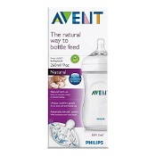 Avent Natural Baby Feeding Bottle Clear BPA Free 260ml