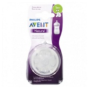 Avent Natural Slow Flow Teat 1 Month+ 2 Pack