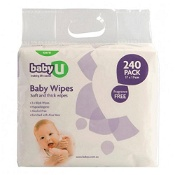 Baby U Wipes Fragrance Free 240 Pack