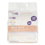 Baby U Goat Milk Wipes 240 Pack