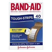 Band-Aid Tough Strips Regular Fabric 40 Pack