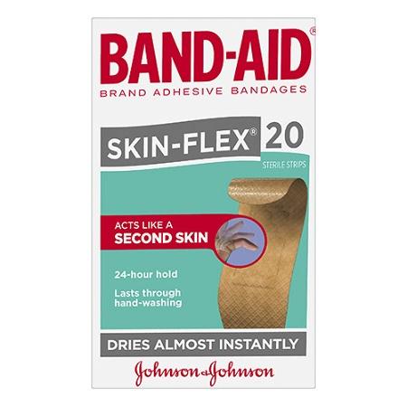 Band-Aid Skin-Flex Sterile Strips 20 Pack