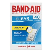 Band-Aid Clear Strips 40 Sterile Strips