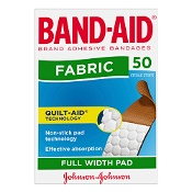 Band-Aid Fabric Strips 50 Sterile Strips