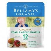 Bellamys Organic Pear&Apple Snack 20g