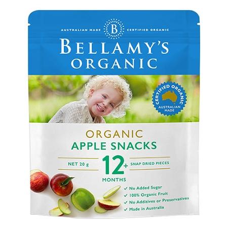 Bellamys Organic Apple Snacks 20g