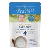 Bellamys Organic Baby Rice with Prebiotic 125g