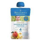Bellamys Organic Banana & Apple Porridge 120g