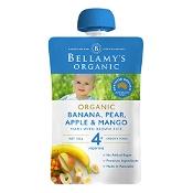 Bellamys Organic Banana, Pear & Mango 120g