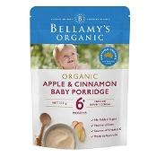 Bellamys Organic Apple & Cinnamon Baby Porridge 125g