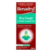 Benadryl Dry Cough & Nasal Congestion 200ml