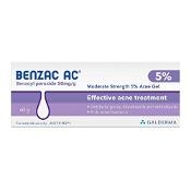 Benzac AC Moderate Strength 5.0% Acne Gel 60g