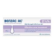 Benzac AC Mild Strength 2.5% Acne Gel 60g