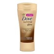 Dove Summer Glow Gradual Self Tan Body Lotion Medium to Dark 400ml