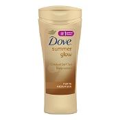 Dove Summer Glow Gradual Self Tan Body Lotion Fair To Medium 400ml
