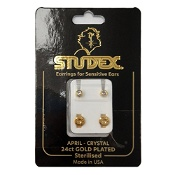 Studex Regular Birthstone April Gold Stud Earring 1 Pair