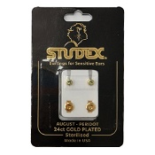 Studex Regular Birthstone August Gold Stud Earring 1 Pair