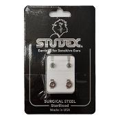 Studex Regular Birthstone August Silver Stud Earring 1 Pair