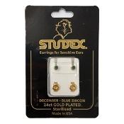 Studex Regular Birthstone December Gold Stud Earring 1 Pair