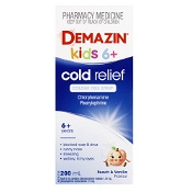 Demazin 6+ Years Cold Relief Colour Free Syrup 200ml