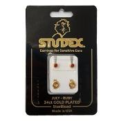 Studex Regular Birthstone July Gold Stud Earring 1 Pair