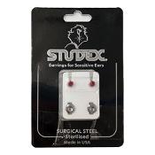 Studex Regular Birthstone July Silver Stud Earring 1 Pair