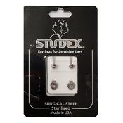 Studex Regular Birthstone June Silver Stud Earring 1 Pair