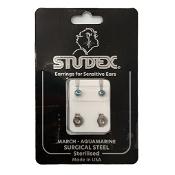 Studex Regular Birthstone March Silver Stud Earring 1 Pair