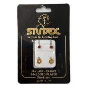 Studex Regular Birthstone January Gold Stud Earring 1 Pair