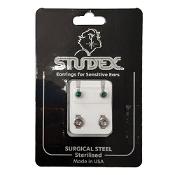 Studex Regular Birthstone May Silver Stud Earring 1 Pair