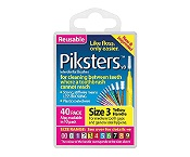 Piksters Size 3 Yellow 40 Pack