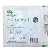 Mepilex Border AG Dressing 395300 10cm x 10cm Single