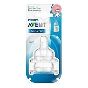 Avent Anti-Colic Teat Variable Flow 3 Months+ 2 Pack