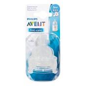 Avent Anti-Colic Teat Medium Flow 3 Months+ 2 Pack