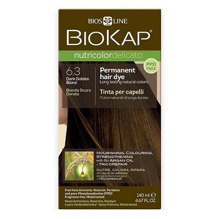 Biokap Nutricolor Delicato 6.3 Dark Golden Blonde 140ml