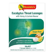 Bosistos Eucalyptus Throat Lozenges With Honey & Lemon 50g
