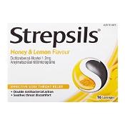 Strepsils Honey & Lemon Lozenges 16 Pack
