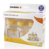 Medela Breastmilk Bottle 150ml with Wide Base Slow Flow Teat 3 Pack