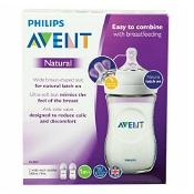 Avent Natural Feeding Bottle Clear BPA Free 260ml x 2 Pack