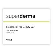 Superderma Salicylic Acid 3% Sulphur 10% Soap Bar 135g {Fragrance-Free}