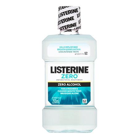 Listerine Zero Alcohol Mouthwash 250ml