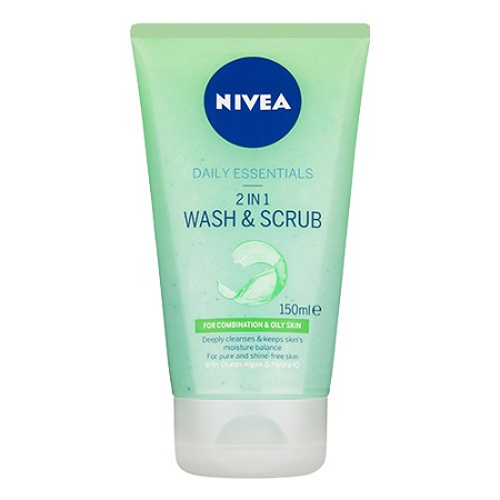 Nivea Purifying 2 in 1 Wash & Scrub 150ml