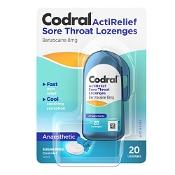 Codral ActiRelief Sore Throat Lozenges Mint 20 Pack