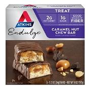 Atkins Low Carb Endulge Caramel Nut Chew Bar 5 x 34g Pack