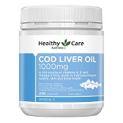 Healthy Care Cod Liver Oil 1000mg 200 Capsules