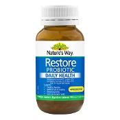 Natures Way Restore Probiotic Daily Health + Prebiotic 90 Capsules