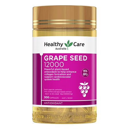 Healthy Care Grape Seed Extract 12,000 300 Capsules