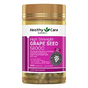 Healthy Care Grape Seed Extract 58,000 200 Capsules