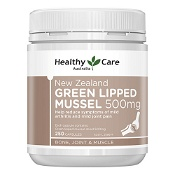Healthy Care New Zealand Green Lipped Mussel 500mg 250 Capsules